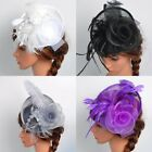 US Women Fascinator Hat Lady Cocktail Wedding Hairpin Party Headpiece Wrap Gift
