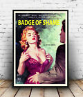 Badge of sham : Vintage pulp book cover, poster, Wall art, reproduction.