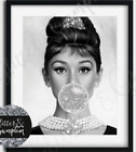 Designer Fashion Art Bubblegum audrey hepburn silver or black bubble print