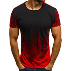 Mens Short Sleeve T Shirt Slim Fit Casual Blouse Tops Summer Clothing Muscle Tee