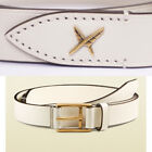 sz 34 40 NEW $495 GUCCI Men White Leather Gold Buckle FEATHER Detail Summer BELT