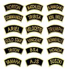 GOLDON Traditional Motorcycle Shoulder Title Patches Badges Sew/Iron on £1.99 GBP on eBay