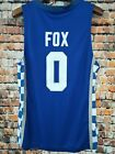 DeAaron Fox #0 Kentucky Wildcats College Hype Basketball Sewn Jersey WHITE-BLUE <br/> All suture++USPS++Free delivery++Lightning transport