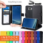 For Samsung Galaxy S6 S7 Edge Note 8 S8 / S9 Plus Leather Wallet Card Slot Case