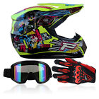 motorcycle helmets goggles - DOT Motorcycle Motocross Off-road Helmet+Goggles+Gloves Durable Unisex Adult BCL