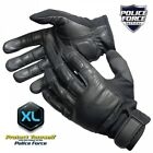 Police Force Leather Tactical Reinforced Steel Shot Weighted Knuckle SAP GlovesTactical Gloves - 177898