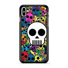 Funky Incredible Colourful Delightful Skull Faces Pattern 2D Phone Case Cover