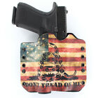 OWB Kydex Holster for 50+ Hanguns with OLIGHT PL-2 - DON'T TREAD SNAKE FLAG