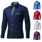 Mens Formal Business & Casual Shirts Tops Workwear Dress Button-down Shirts GIFT