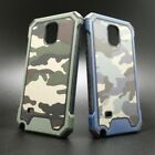 SAMSUNG NOTE 4 N910 ARMY CAMO CAMOUFLAGE HYBRID ARMOR SOFT TPU CASE
