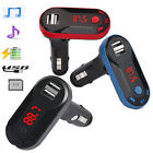 Car Wireless Bluetooth MP3 Player Handsfree FM Transmitter Audio Kit TF SD KY