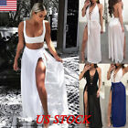 US Women Bikini Cover Up Swimwear Sheer Beach Maxi Wrap Skir