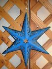 STARS~Metal~Scrolled Etching~Dimensional~Wall Decor~13 Inch Diameter~Colors Vary