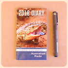 BULK - 5 x 2018 Pocket SMALL DIARIES lizard large print AUSTRALIAN MADE DIARY