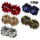 1 Pair Shoe Clips Fashionable Sequins Flower Rhinestone Shoe Clips Shoe Decor