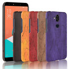 Luxury Wood Grain PU Leather Case For Asus Zenfone ZE520KL/Live Hard Shell Cover