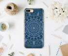 Blue iPhone X Full Wrap Case iPhone 6s 7 8 Plus Mandala Cover iPhone 5S SE Cover