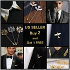 14 style Men's Brooch Lapel Badge Suit Pin Chest Metal Collar Pin Accessories
