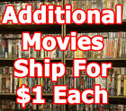 HUGE DVD Selection! Family/Action/Drama/Horror P-S $3 Shipping + $1ea additional $2.49 USD on eBay