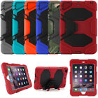 Usa Waterproof Case For Ipad 2/3/4 Air 1/2 Mini 123 Shockproof Heavy Duty Stand