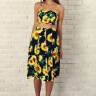 Women Floral Two-Piece Casual Romper Crop Top Skirt Jumpsuit Summer Set Outfits