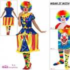 Ladies Deluxe Clown Costume Light Up Carousel Adult Circus Carnival Fancy Dress
