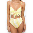 UK Womens Summer Beach Bikini Set Ladies 2 PCS Holiday Swimwear High Swimsuit