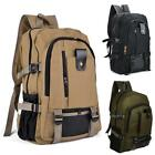 Outdoor Retro Rucksack Canvas Backpack School Satchel Hiking Travel Bag Portable