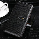 Luxury Crocodile PU Leather Card Holder Wallet Flip Cover For Homtom S12 S7 HT26