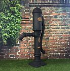 Garden Pond Village Pump Replica Black Iron Effect / Ready Fitted With 25mm Hose