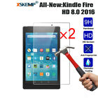 2xGenuine Tempered Glass Screen Protector For Amazon Kindle 7/ HD8 /HD10 /Voyage
