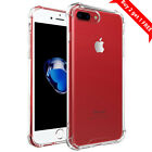 For iPhone 7 Plus 7 8 X Case Clear Transparent Shockproof Hard PC Back TPU Cover