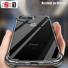 For iPhone X 7 8 Plus XR Max Case Crystal Clear Hard/Soft Shockproof Hybrid Case