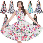 50s swing dress pattern - Vintage Dress 50s 60s Retro Style Pinup Housewife Party Swing Tea Floral Pattern