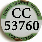 BUS CONDUCTOR BADGE Fridge Magnet Button 2 Sizes Round Coach or Bus Novelty Gift
