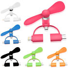 Mini Pocket Fan for Android Apple USB 3-in-1 Portable Handheld Personal Fans poc