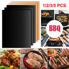 5pcs BBQ Grill Mat Teflon Reusable Sheet Resistant Non-Stick Barbecue Bake Meat