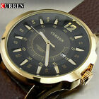 CURREN FASHION LUXURY MALE WATCH HOURS DATE BROWN LEATHER BUSINESS GIFTS FOR HIM