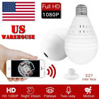 1080P Mini Security IP Camera 360° Panoramic SPY Hidden Wifi Wireless Light Bulb