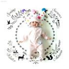 Baby Photo Blanket Baby The Clock Blanket Soft Cotton Swaddle Carpet 1C2B