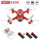 Syma Mini Quadcopter X22W 2.4Ghz FPV Real Time HD Camera RC Drone Hover 3D Flip