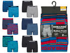 Mens Button Front Boxers Cotton Rich Multipack Embargo Underwear Gift Idea Cheap
