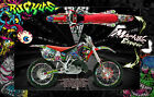 "HONDA 1988-1999 CR125 CR250 GRAPHICS WRAP ""RUCKUS"" DECAL KIT WITH RIM GRAPHICS"