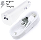 Samsung Galaxy S7 S8 S9 Note 5 8 Fast Charging Dual USB Car&Wall Charger+Cable