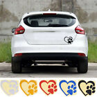 Love The Dog Paw Print Window Decoration Decal Creative Motorcycle Car Stickeyr