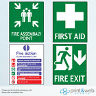 Fire/First Aid Wall Stickers For Office And Home Use