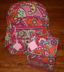Vera Bradley CAMPUS BACKPACK large AND LUNCH SACK bunch 4 ca