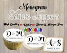 Wedding Monogram edible cookie toppers images pictures cupca