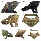 Dog Harness 1000D Nylon Waterproof Adjustable Button Training Vest With Handle