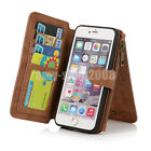 For iPhone 8 Plus/7 Plus/8/7 Genuine Leather Flip Stand Phone Case Cover Wallet